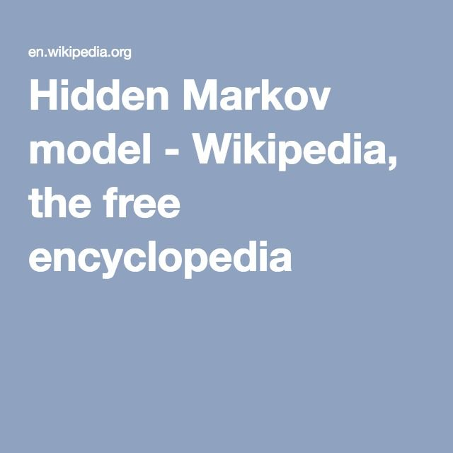 Hidden Markov model - Wikipedia, the free encyclopedia