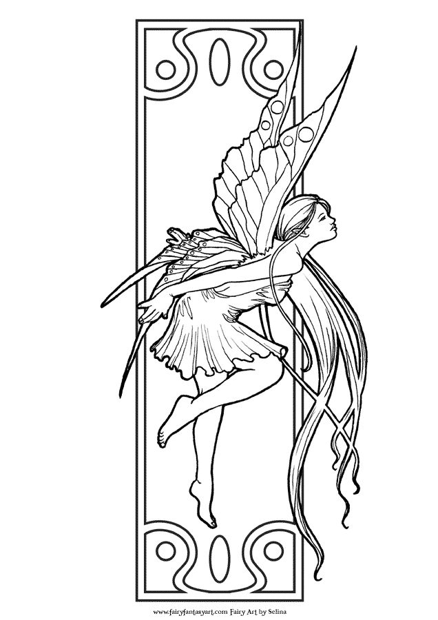Exotic Fairy Coloring Pages