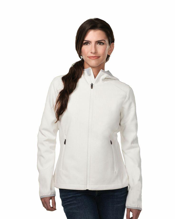 Women bonded fleece hoody jacket w/slash pocket. Tri mountain FL7887 #favorite  #simple #perfect #giftforher  #casualwear #sporty #comfort #greatdeals