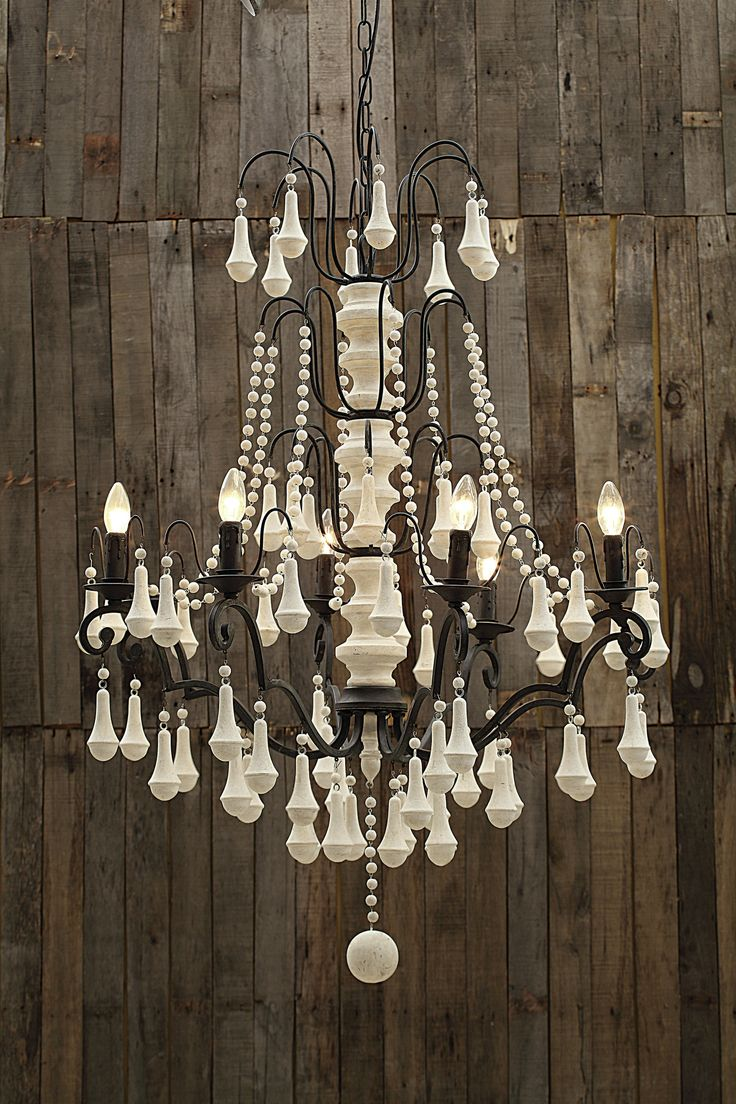 Iron 6 Light Chandelier with Wood Beads repin & like. Check out Noelito Flow music. Noel. Thanks https://www.twitter.com/noelitoflow  https://www.youtube.com/user/Noelitoflow