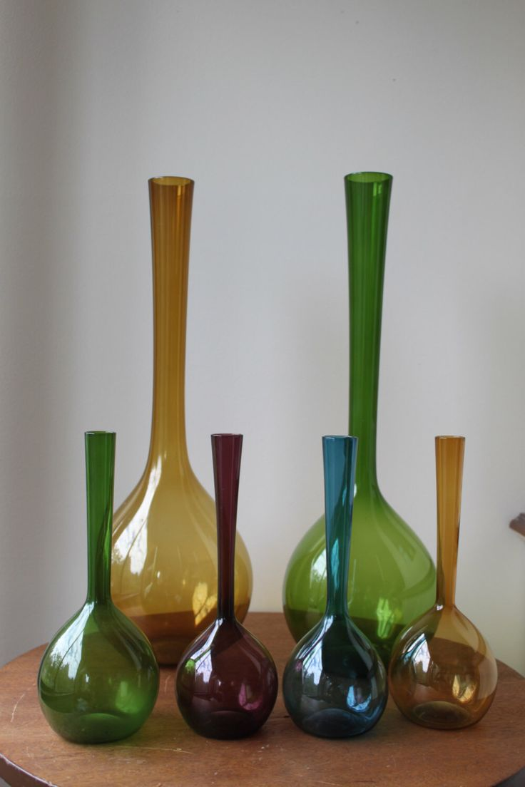 108 best glass id images on pinterest glass art glass vase and jars reduced mid century modern large bulb glass vase 20 amber yellow reviewsmspy