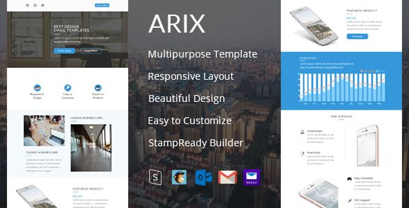 Arix - Email Template + StampReady Builder