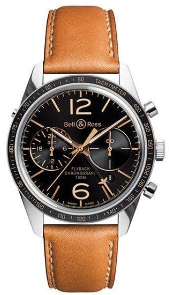 Bell   Ross Flyback BRV126-FLY-GMT SCA Stainless Steel   Leather 43mm Mens  Watch  MensWatches  aff9845c8308
