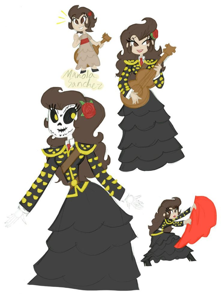 The Book Of Life Manolo And Maria Fan Art