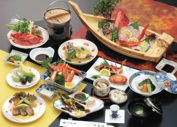 """This is a dish of the hot spring hotel of """"Seiryu-kaku"""" of the hot spring of Arawa in Fukui Prefecture in Japan ☆ Sashimi"""