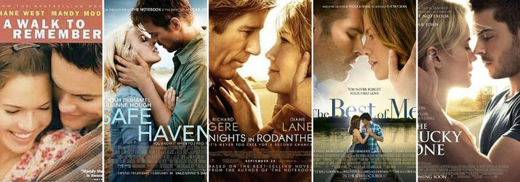 Our favourite Nicholas Sparks movie adaptions.