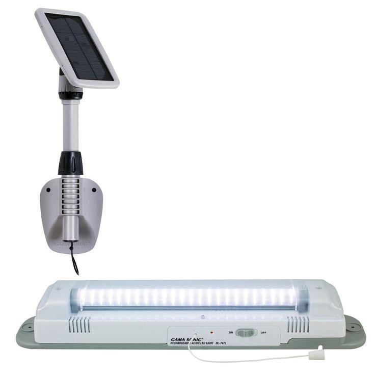 GamaSonic Gray Light My Shed 3 - 48 Light LED Solar Shed Light | Wayfair