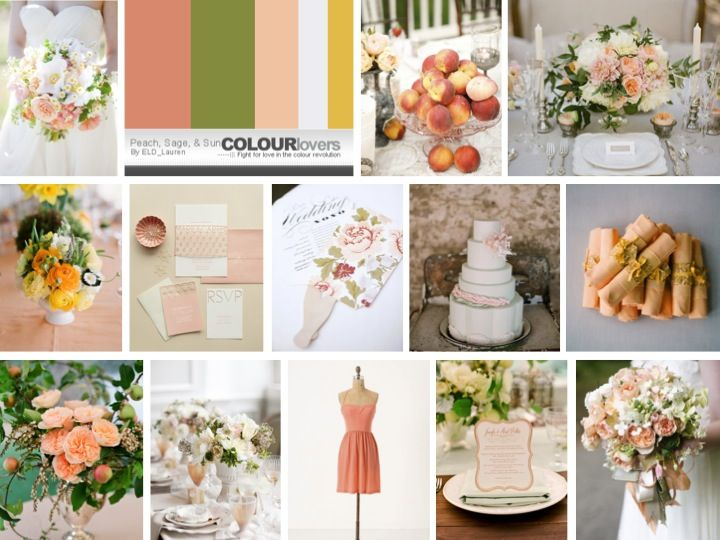 Coral peach and yelllow weddings | Peach-Sage-and-Yellow-Inspiration-Board.jpg