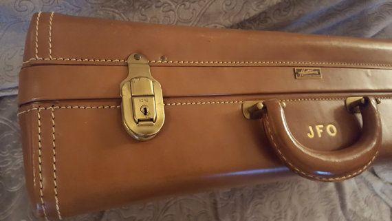 Vintage Men's Suitcase Vintage Luggage by StorytellerGirl