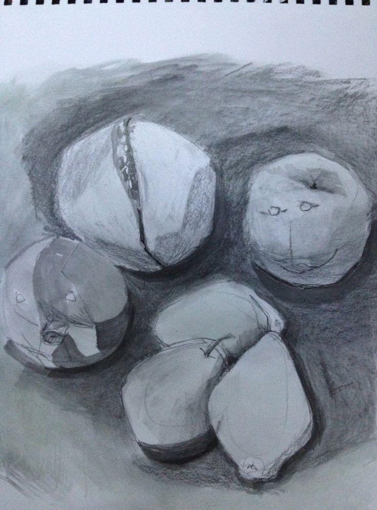 still life painted sketch