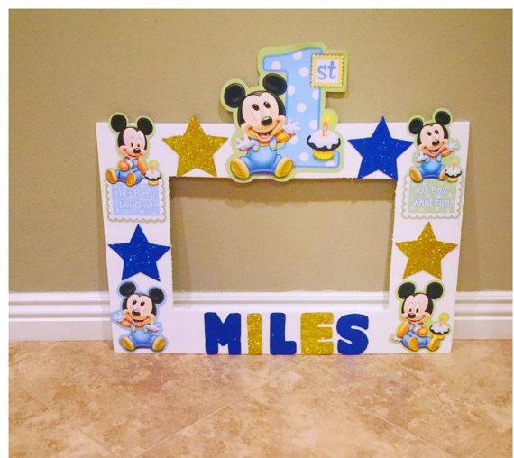 Mickey Mouse 1st Birthday Photo Frame Photo By Natashathecreator