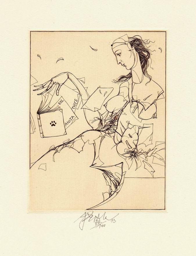 Ex libris by Jiri Brazda