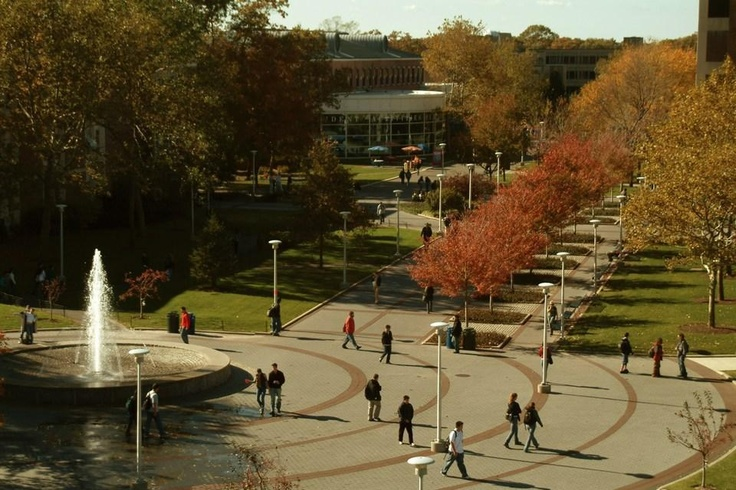 Stony Brook University academic mall.