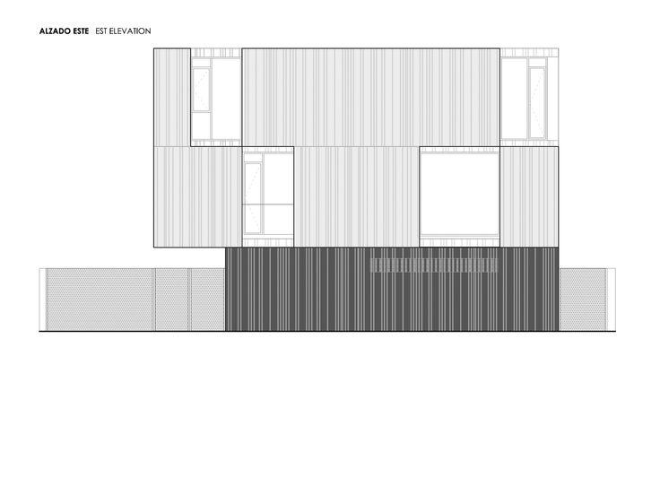 Imagen 20 de 21 de la galería de Casa Concreto / Ruben Muedra Estudio de Arquitectura. East elevation