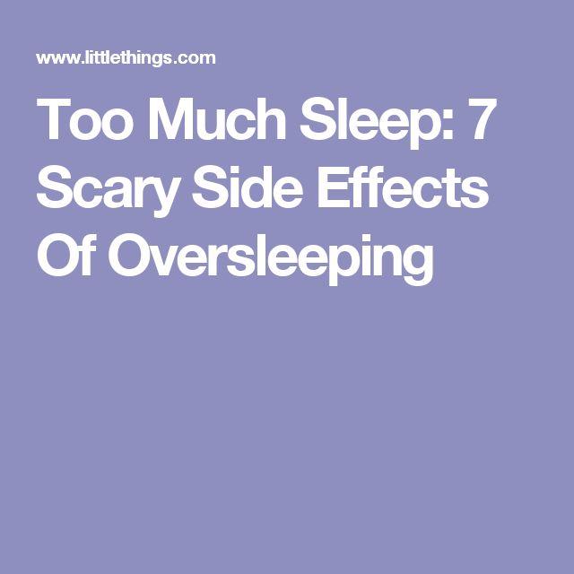 Too Much Sleep: 7 Scary Side Effects Of Oversleeping