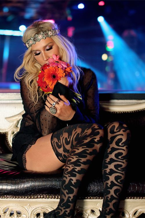 Ke$ha there's just something about her that I really like, she's not annoying like a lot of other singers