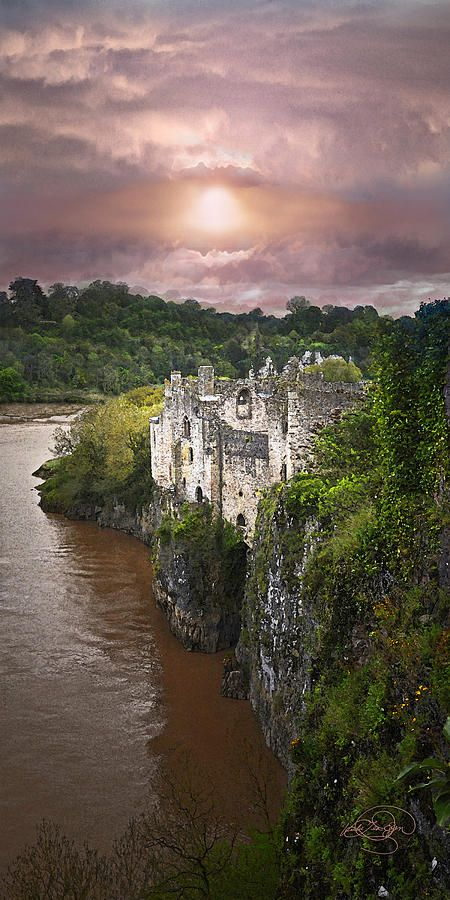 Once Upon A Time... Chepstow Castle, Wales, United Kingdom. #United #Kingdom #Travel