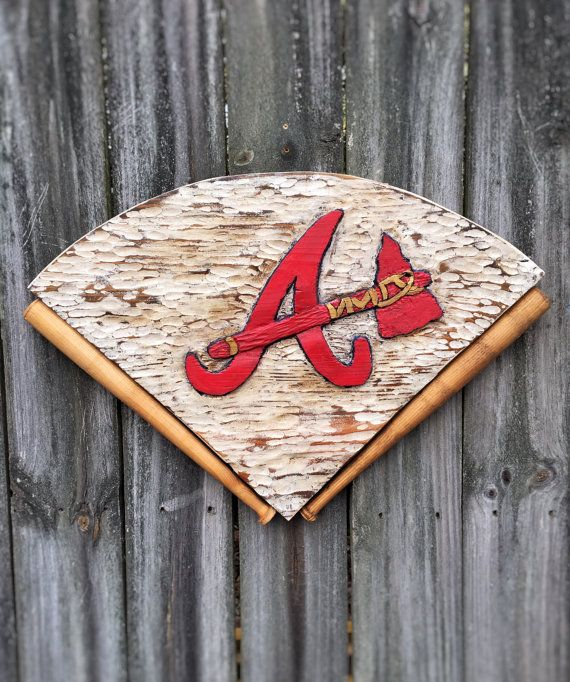 Baseball Team Logo Diamond Decor Reclaimed Wood Hand Carved on Etsy by Eco Art Eood Design customize to your team. Great man cave decor!