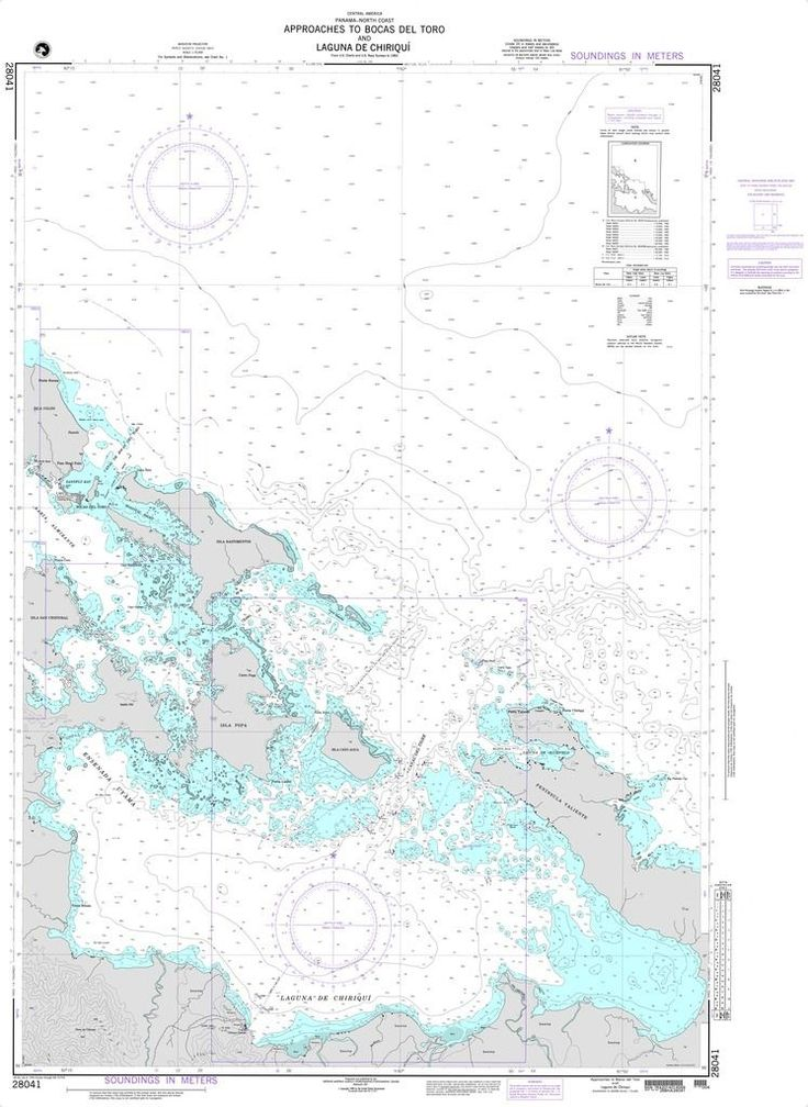 NGA Chart 28041: Approaches to Bocas del Toro and Laguna de Chiriqui