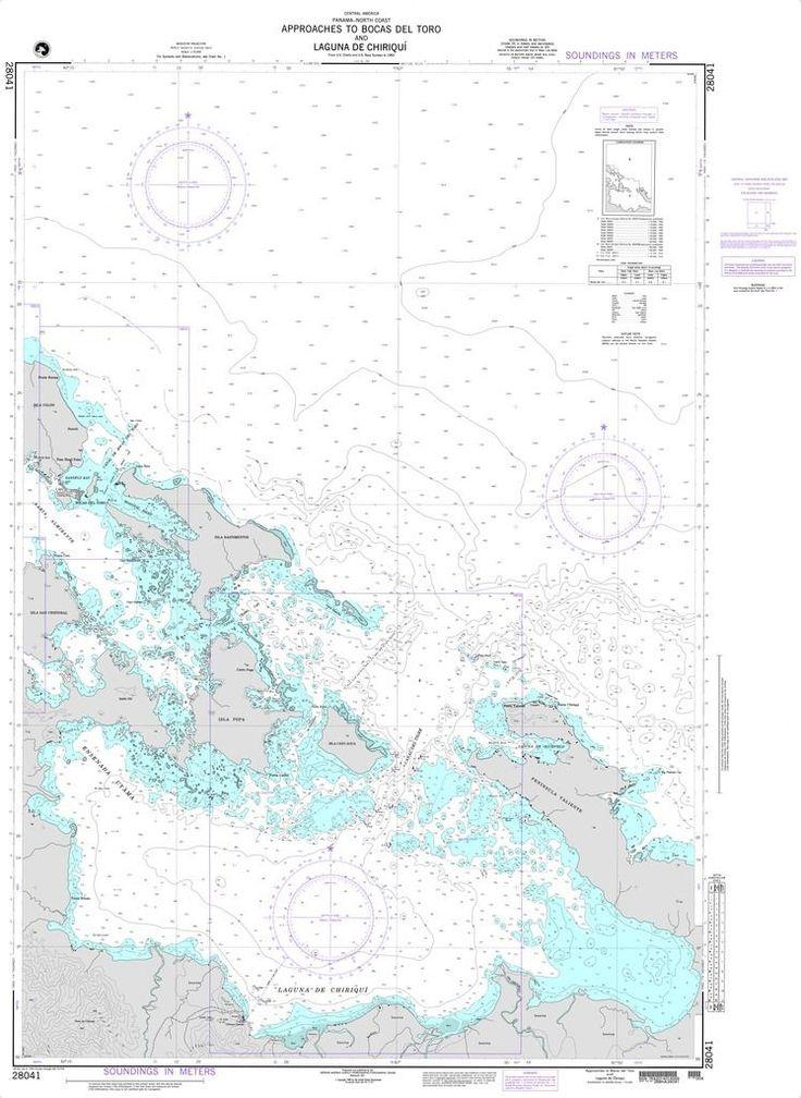 NGA Chart 28041: Approaches to Bocas del Toro and Laguna de Chiriqui