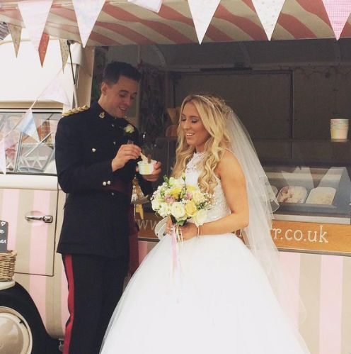 A Beautiful Bride Groom Vintage Ice Cream Van Hire Pollys Parlour