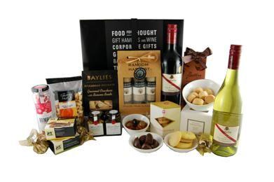 Premium Red White Delight: Gift Basket & Gourmet Goodies   <3   <3