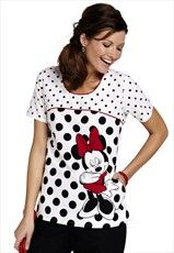 Disney Nursing Scrubs Minnie Mouse