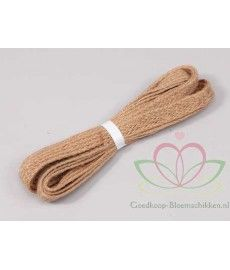 Jute lint band naturel 350cm vast
