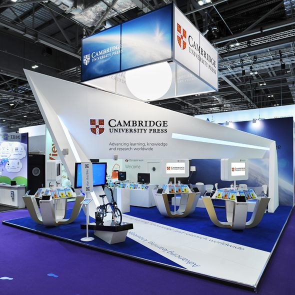 Exhibition Stand Poster Design : Click to enlarge cambridge university press bett