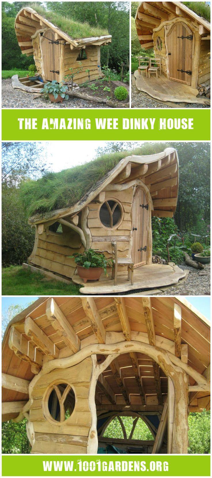 This hut remind us the ones of our child time, like a kids playhouse! Initially, the project made by thinkingwood was a child's playhouse, but the project