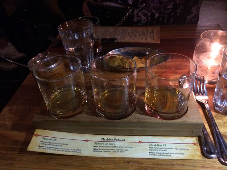Island Back Roads Rum flight (Matusalem, Milonario, Flor de Cana) at Calabash Bistro, the 5th and final stop on Dean's epic birthday crawl. http://bit.ly/1SpE8bs
