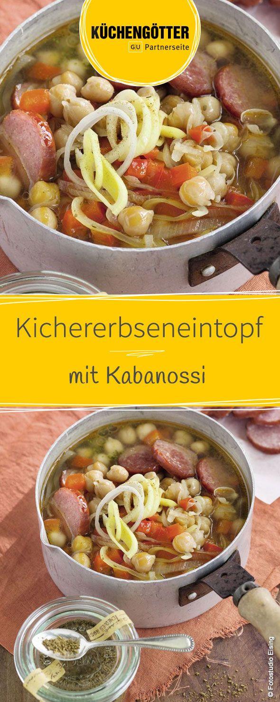Low Carb Rezept für Kichererbseneintopf mit Kabanossi