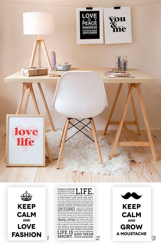 Formas diferentes de vestir tus paredes http://kenayhome.com/blog/no-te-quedes-a-cuadros/