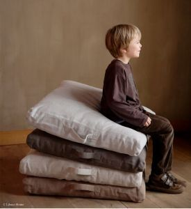 Floor Pillow- Love for the family room-make out of canvas drop cloths