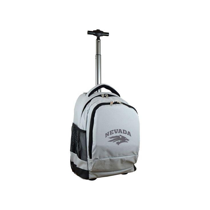 NCAA Nevada Wolf Pack Gray Premium Wheeled Backpack