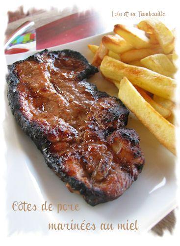 Côtes de porc marinées au miel Lolo et sa Tambouille