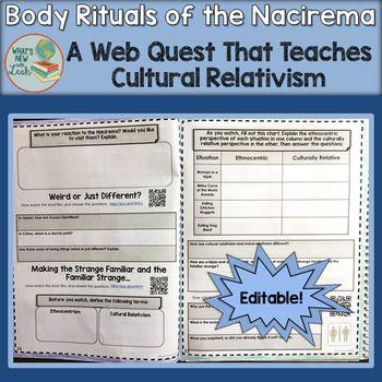 rituals of the nacirema Nacirema people.