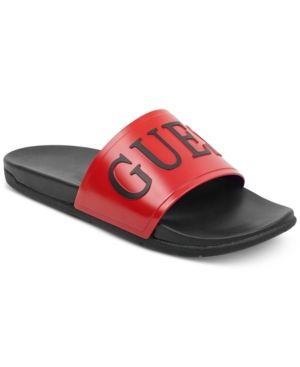 e48a53ebaa3f Guess Men s Delfino Soccer Slides - Red 12