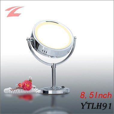 Loutoff doppelseitiger 10-fach Stand-Kosmetikspiegel mit Beleuchtung, 8,5Inch, LED ROHS YTLH91
