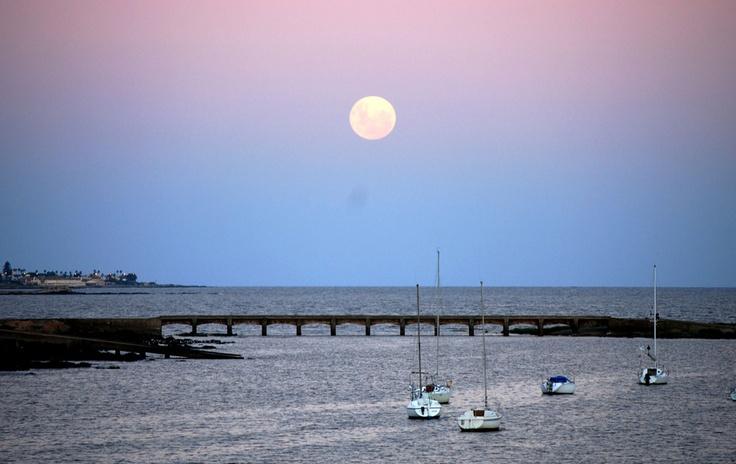 URUGUAY | Montevideo, luna, rambla