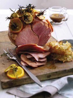 Roasted Gammon with Orange, Lemon and Rosemary Glaze