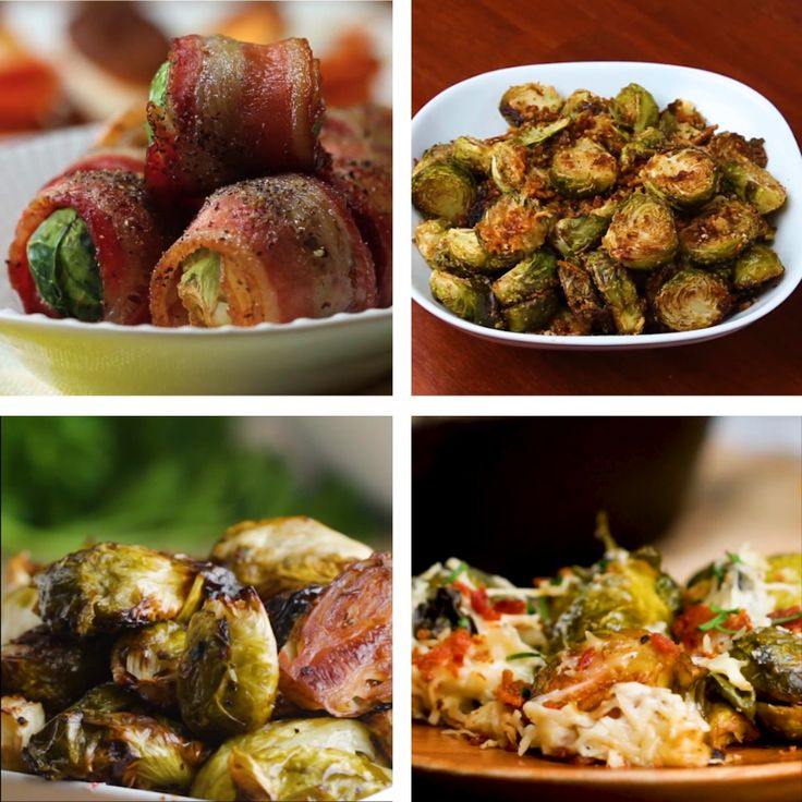 Brussel Sprouts 4 Ways // #bacon #brusselsprouts #veggies #sidedish