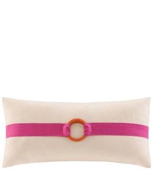 Catalina buckle oblong decorative pillow. $30.00