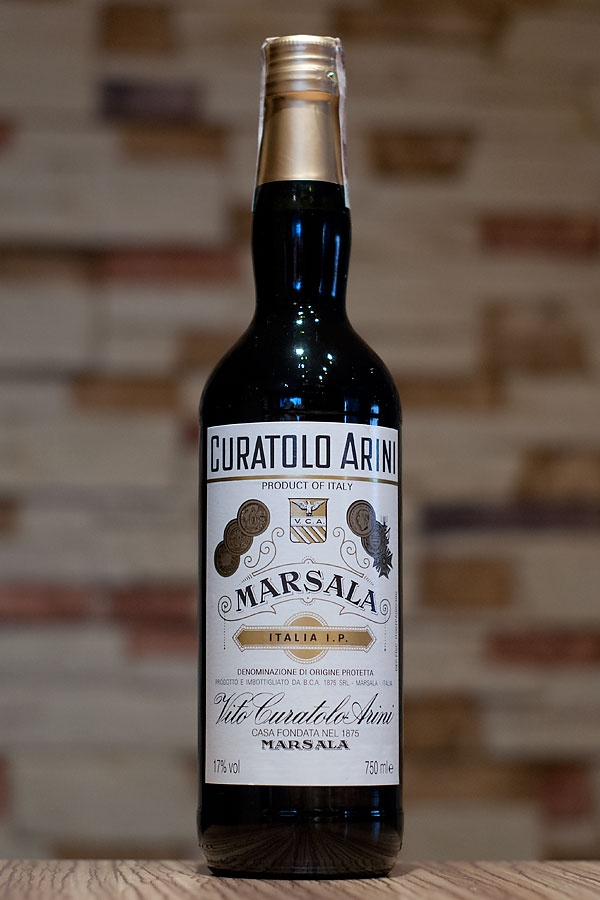 Wine label design: Curatolo Arini Marsala Fine
