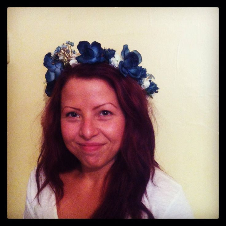 My lovely sister sporting one of my flower crowns