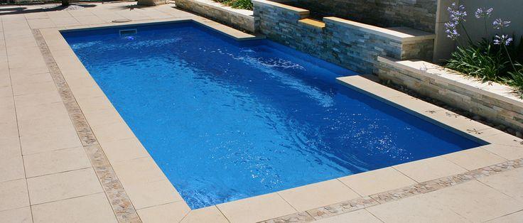 Princeton - 4.48m x 2.6m, 1.22m - 1.68m depth. http://www.sapphirepools.com.au/swimming-pools/princeton/