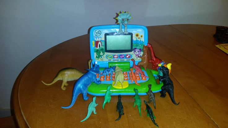 November 3, 2014: The dinosaurs are trying to figure out what his computer is all about...where is the on button?