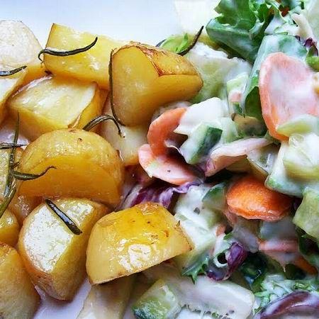 Rozmaringos újkrumpli avokádós salátával Recept képpel - Mindmegette.hu - Receptek