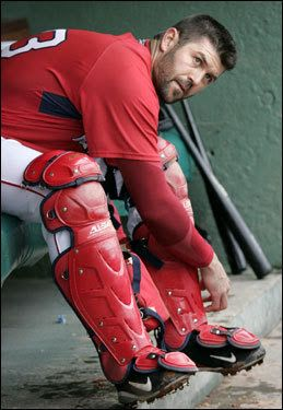Caught the most no hitters of any catcher I'm baseball history. Jason Varitek ladies and gentlemen ;)