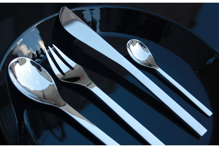 """Alessi Colombina Cutlery. The """"Colombina"""" series, by Massimiliano Fuksas and Doriana Mandrelli is a contemporary and innovative set of designer cutlery. Colombina is a modern take on classic table rituals."""